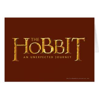 El oro del logotipo de Hobbit Tarjeta De Felicitación