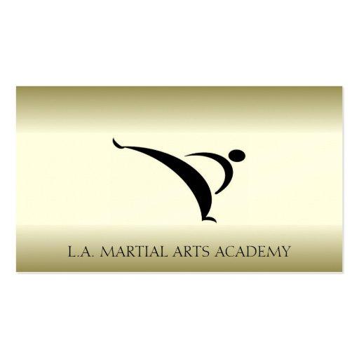El oro del Taekwondo Kung Fu del karate de los art Plantillas De Tarjetas De Visita