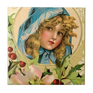 El oro del vintage sazona saludos azulejo cuadrado pequeño