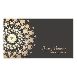 El oro elegante circunda belleza del artista de tarjetas de visita