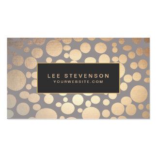 El oro elegante circunda el salón de belleza y el plantilla de tarjeta personal
