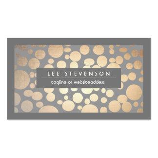 El oro elegante de la diversión circunda al tarjeta personal