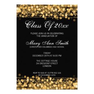 El oro elegante de la fiesta de graduación se enci anuncio
