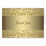 El oro elegante del remolino le agradece felicitaciones