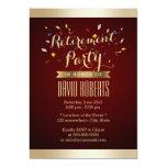 El oro elegante del rojo de vino raya al fiesta de invitacion personal