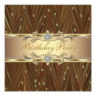 El oro elegante gotea la invitación de la fiesta
