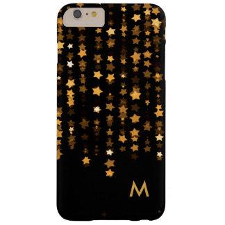 El oro elegante protagoniza el monograma del funda de iPhone 6 plus barely there
