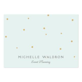 El oro elegante simple protagoniza la aguamarina l tarjetas de visita grandes