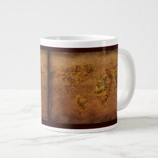 El oro entona el cuenco para sopa del jumbo del taza grande