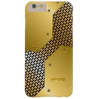 El oro entona el modelo geométrico de la mirada funda de iPhone 6 plus barely there