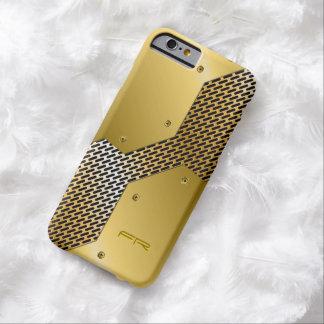 El oro entona el modelo geométrico de la mirada funda de iPhone 6 barely there