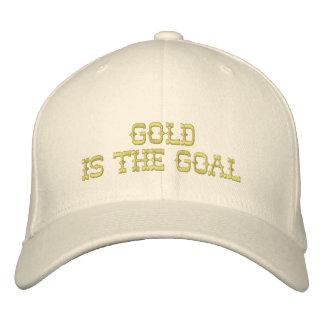 El oro es el casquillo de la meta gorra de beisbol bordada