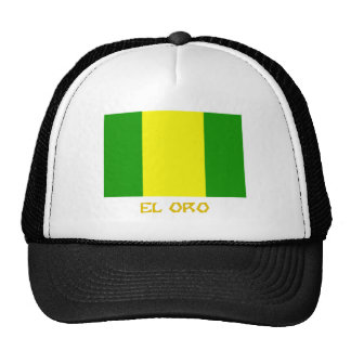 El Oro flag with Name Trucker Hat