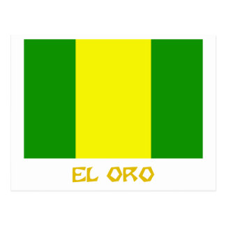 El Oro flag with Name Postcard