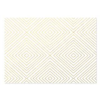 El oro geométrico moderno ajusta el modelo en el tarjetas de visita grandes