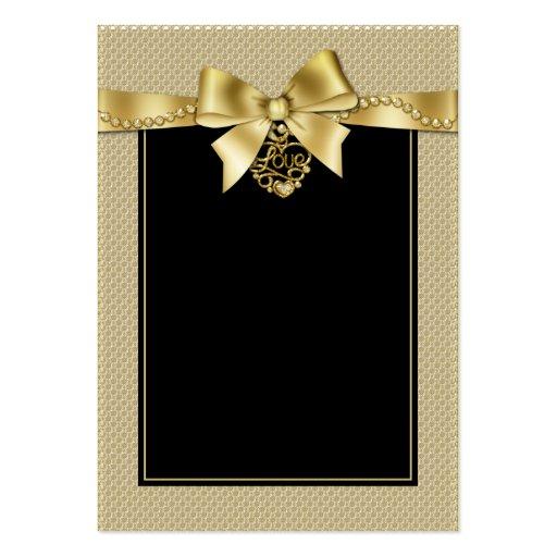 El oro gotea la cinta en tarjetas negras del asien tarjeta de visita