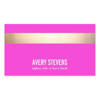 El oro intrépido (ningún brillo) rayó rosas tarjetas de visita