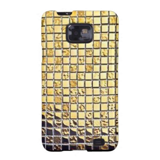 El oro metálico teja las cajas de la galaxia de Sa Samsung Galaxy S2 Carcasa