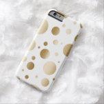 El oro moderno cepillado puntea confeti funda de iPhone 6 barely there