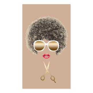 El oro moderno del estilista Scissor el pelo Tarjetas De Visita