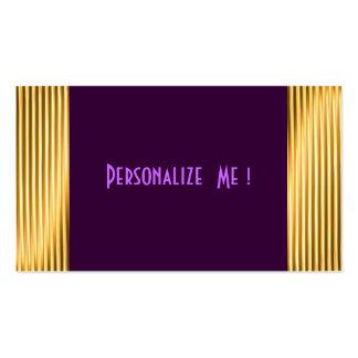 El oro moderno púrpura elegante se refresca/Casa-d Plantillas De Tarjetas De Visita