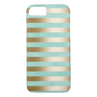 El oro moderno raya la caja del iPhone 7 Funda iPhone 7