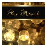 El oro negro burbujea palo Mitzvah Anuncios