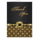 """El oro negro """"le agradece"""" damasco del boda felicitación"""