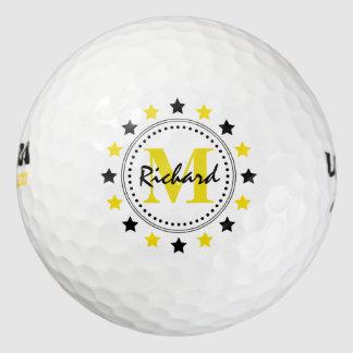 El oro negro protagoniza el monograma pack de pelotas de golf
