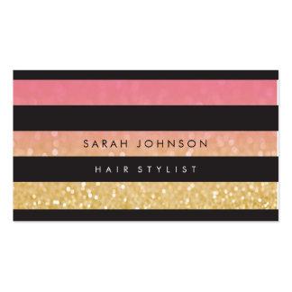 El oro negro raya tarjetas de la cita del tarjetas de visita
