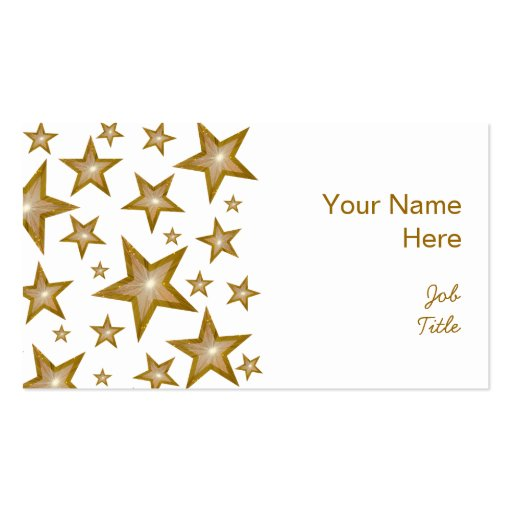 El oro protagoniza blanco del lado de la tarjeta tarjetas de visita