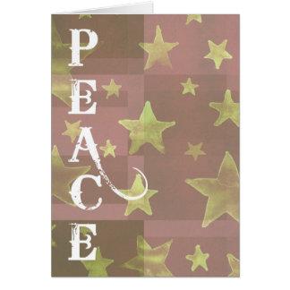 El oro protagoniza paz del navidad tarjeta de felicitación