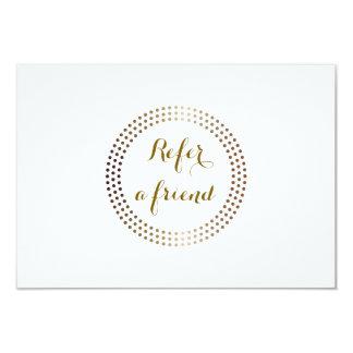 """El oro punteado circunda la tarjeta moderna de la invitación 3.5"""" x 5"""""""