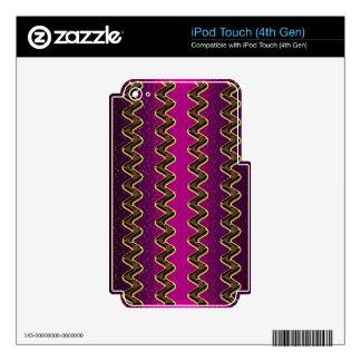 El oro púrpura femenino que riela teje los regalos iPod touch 4G skins