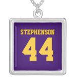 El oro púrpura personalizado se divierte el número joyerias personalizadas