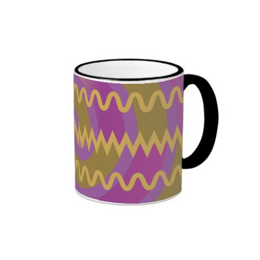 El oro púrpura remolina modelo de Chevron de las o Taza De Café