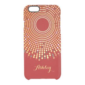 El oro radial de la chispa roja caliente del funda clearly™ deflector para iPhone 6 de uncommon