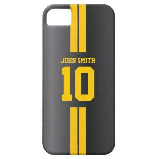El oro raya la caja oscura del iPhone 5 del jersey iPhone 5 Cárcasas