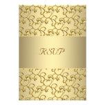 El oro remolina aniversario de boda del oro 50.o R Anuncio Personalizado