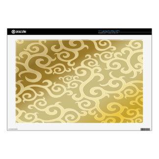 El oro remolina fondo portátil calcomanías