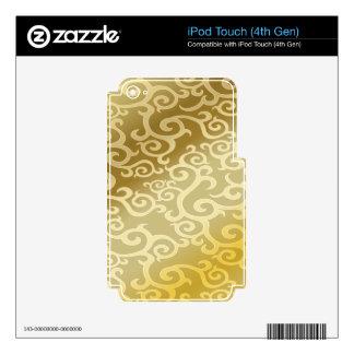 El oro remolina fondo skins para iPod touch 4G