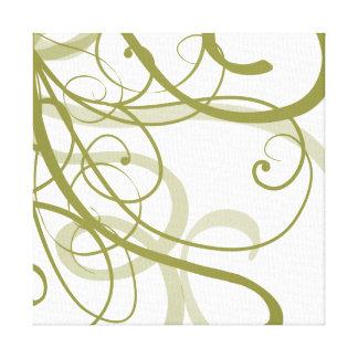 El oro remolina modelo impresión en tela