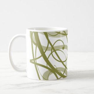 El oro remolina modelo taza básica blanca