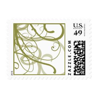 El oro remolina modelo timbre postal