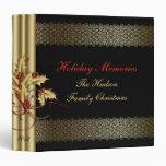 El oro remolina navidad negro de las bayas rojas d