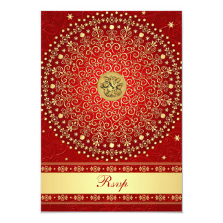 El oro rojo hindú de Ganesh enrolla casar la Comunicado