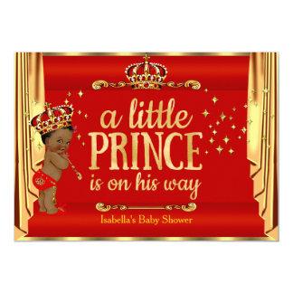 """El oro rojo real cubre al príncipe fiesta de invitación 5"""" x 7"""""""