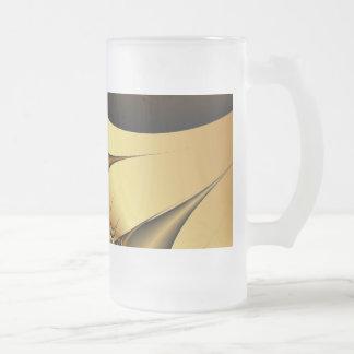 El oro sale de fractales taza de cristal