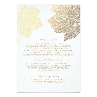 """El oro sale de los detalles blancos del boda - invitación 4.5"""" x 6.25"""""""