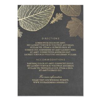 """El oro sale de los detalles del boda de la tiza - invitación 4.5"""" x 6.25"""""""